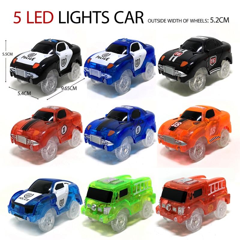Magic track Электромобиль,5 светодиодных ламп,запчасти для игрушек, автомобильный рельс, гоночная трасса, развивающие детские игрушки для мальчи...