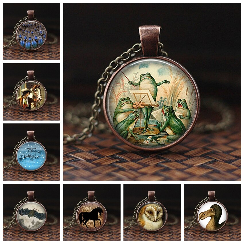 Pavo Real colgante de collar hecho a mano collar llamativo clásico de cristal colgante de joyería de arte joyas de pavo real Accesorios