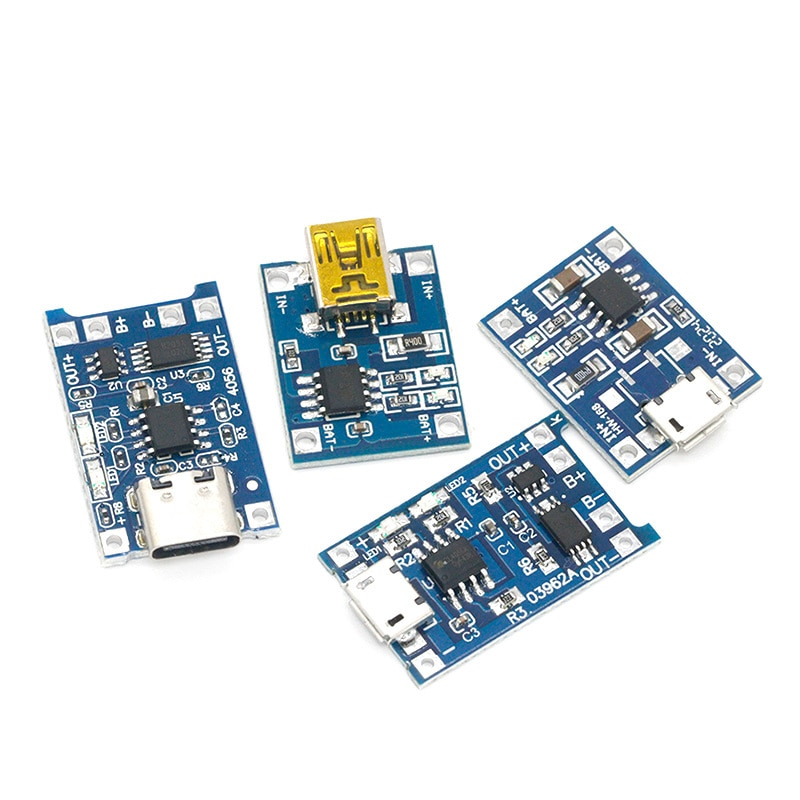 Фото - 10PCs Micro USB 5V 1A 18650 TP4056 Lithium Battery Charger Module Charging Board With Protection Dual Functions 1A Li-ion 10pcs 5v 1a type c usb 18650 lithium battery charging board charger module protection dual functions tp4056 module charging