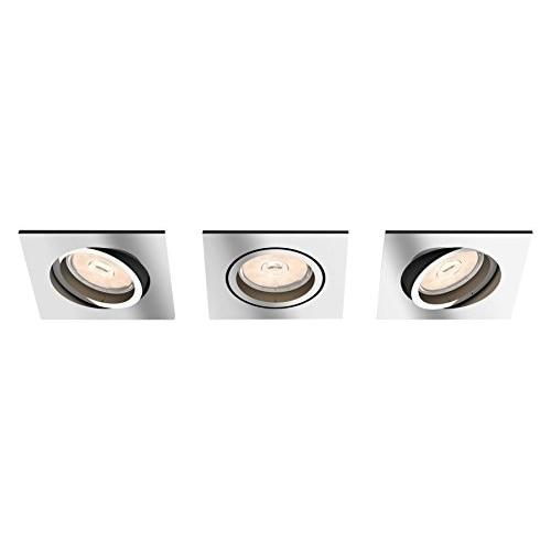 Foco empotrado LED de Philips myLiving dongal cromado-Punto de luz (Foco empotrado, GU10, 3 bombas, LED, 220-240 V,