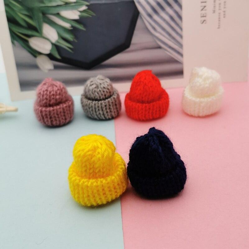 10 pçs colorido lã boné forma encantos pequeno dedo berços bonito criativo encantos diy pingentes jóias brincos acessório boneca decoração