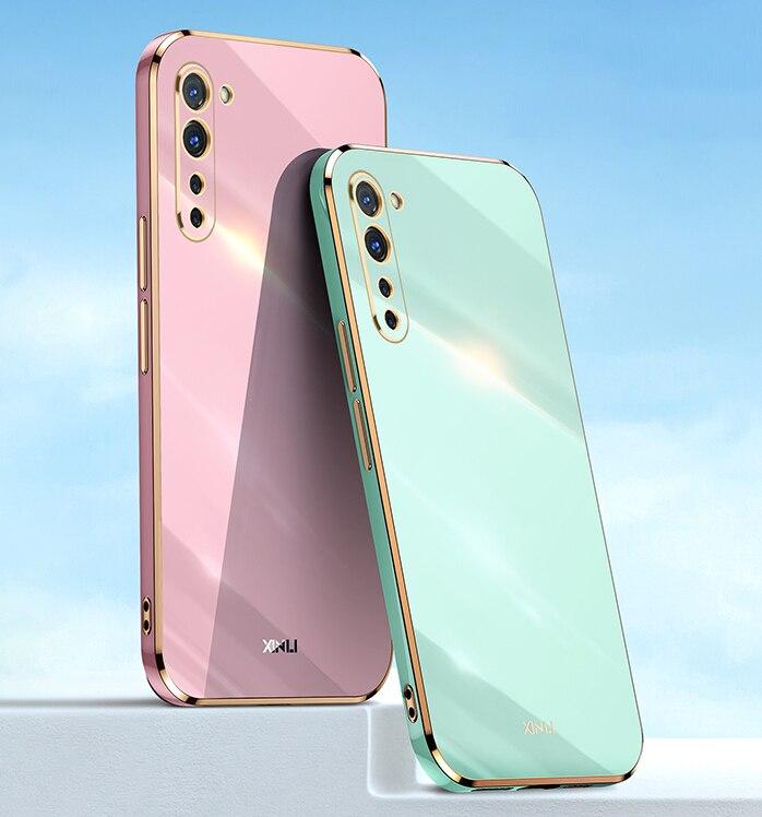 Original Square Plating Soft Silicone Case for OPPO Reno 3 Pro Funda Reno3 3pro Global Version 5G wi