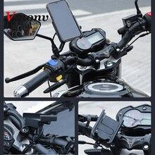 Vmonv универсальное металлическое зарядное зеркало заднего вида для мотоцикла, подставка держатель для сотового телефона, смартфона, руля, велосипеда, мотоцикла