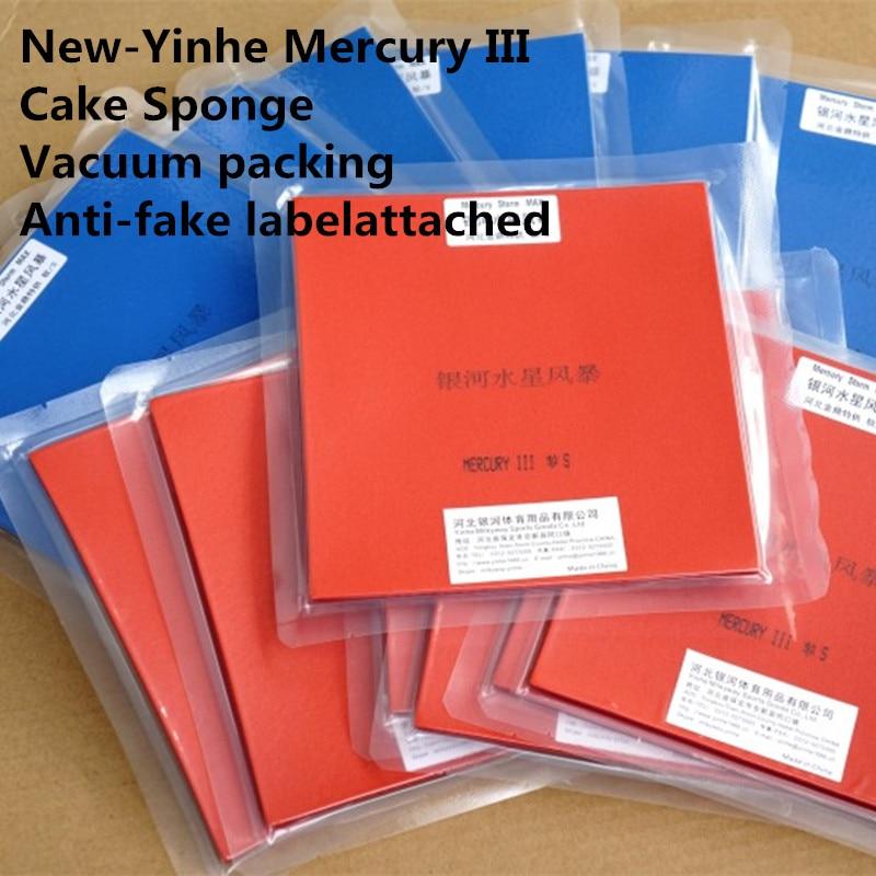 1x Goma de ping-pong Original Yinhe Mercury 3 para raquetas de pala de ping-pong, torta, esponja, espinillas de goma