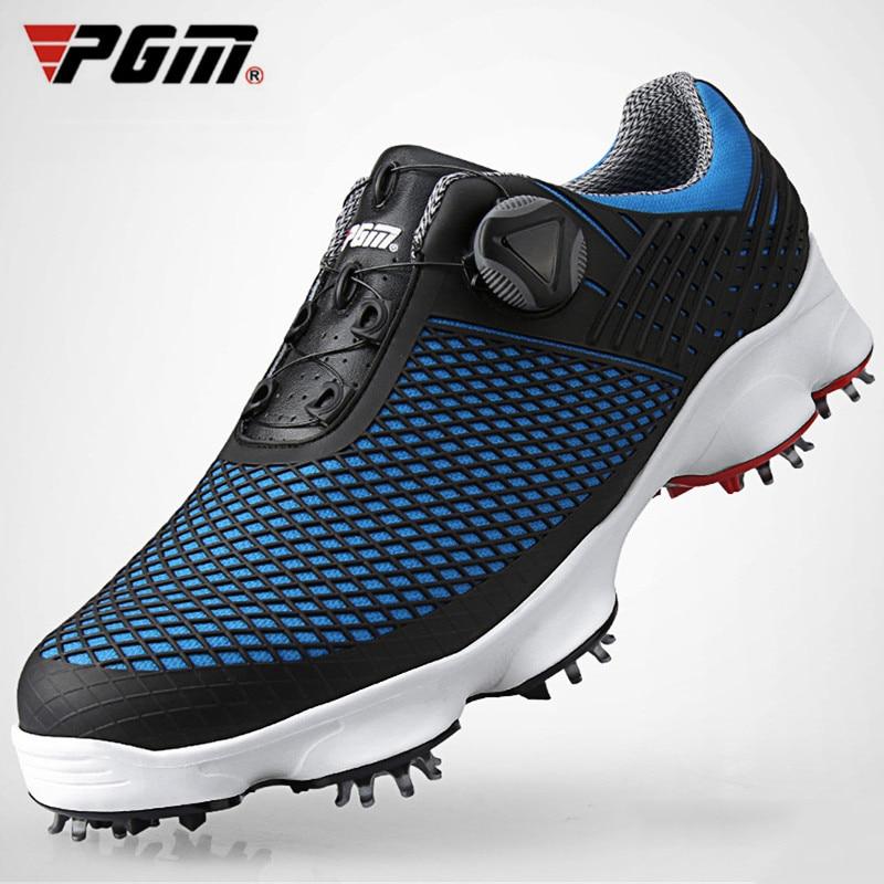 PGM Golf Spikes Shoes Men Wear Slip Resistant Microfiber Man Sport Sneaker Rotating Buckle Shoelaces For Men's Hiking Nail Shoes