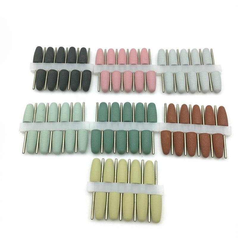 50 unidades de brocas de goma de silicona para manicura, pedicura eléctrica, fresa Dental de silicona, producto de pulido de goma