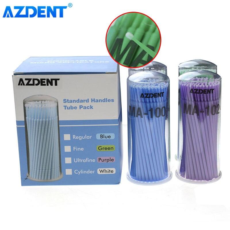 400pcs AZDENT Disposable Micro Applicator Brush Dental Lab Oral hygiene Supplies Eyelash Extension Tools