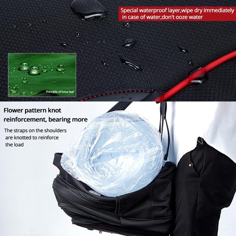 Vodootporni čvrsti veliki ruksak za muškarce torbe za laptop crni - Ruksaci - Foto 4