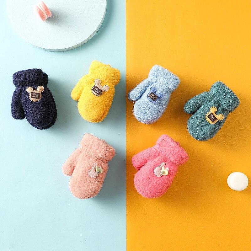 Милые зимние перчатки с героями мультфильмов, варежки для детей, детские мохеровые теплые зимние перчатки с героями мультфильмов, варежки