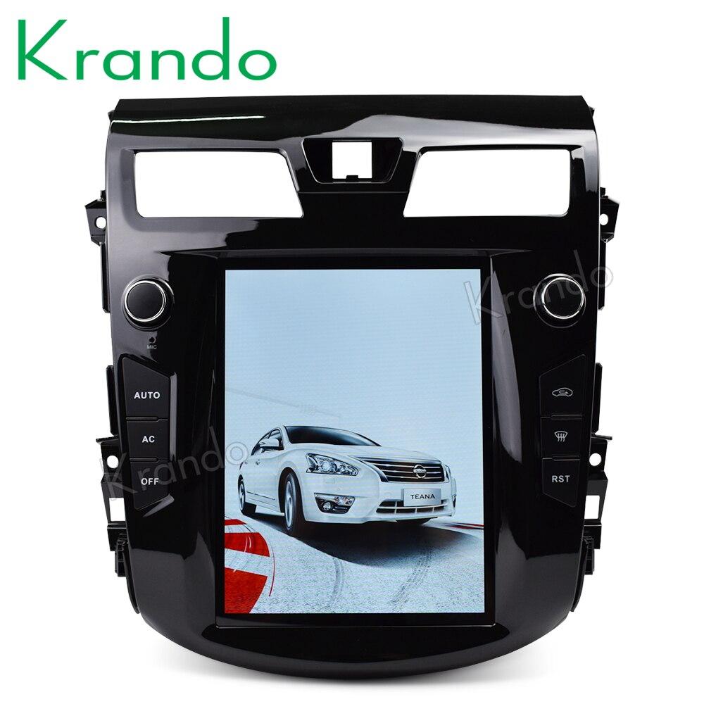 "Krando android 9.0 10.4 ""tela verticial sistema de entretenimento do carro para nissan teana altima 2013 + jogador multimídia gps"