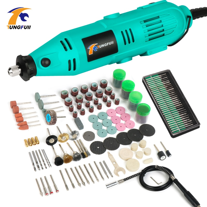 TUNGFULL Dremel Mini Drill Engraver Electric Variable Speed Woodworking Tools Rotary tools