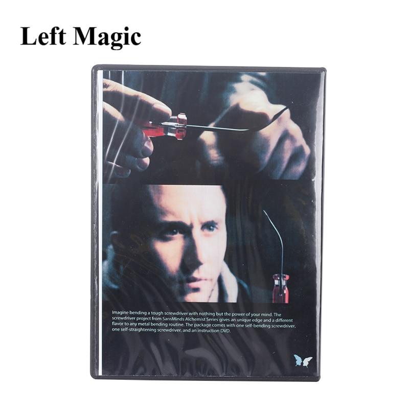 Alquimista Destornillador (2 Gimmicks y Dvd) -trucos de magia para adultos, Kit de ilusiones de magia, espectáculo De Magia