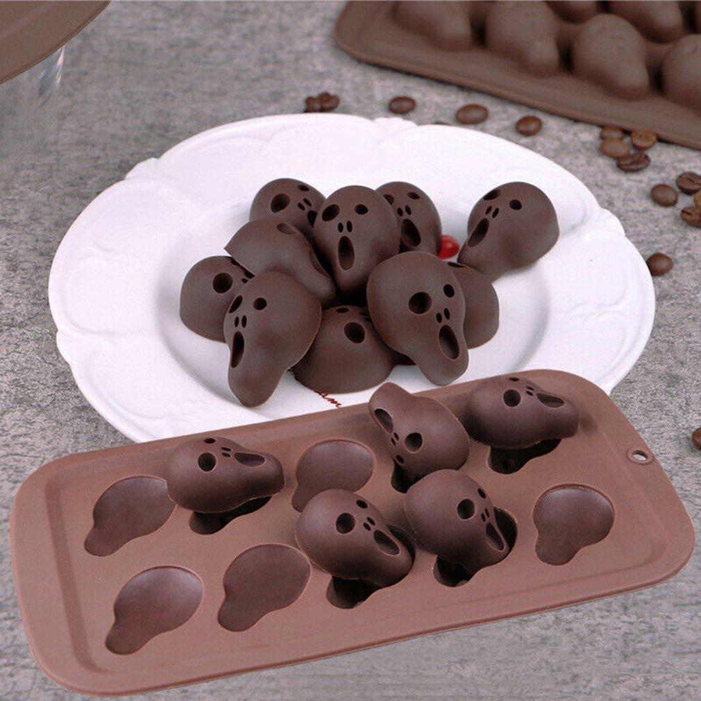 Силиконовая форма в виде черепа для Хэллоуина, форма для конфет, кубиков льда, желе, игрушки ручной работы