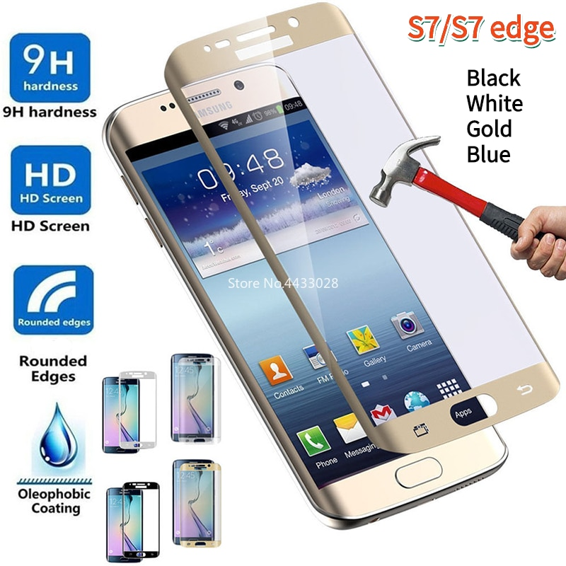 3D Curved for Samsung Galaxy S7 Edge Full Cover Tempered Glass Screen Protector For Samsung S7edge S7 Protective Film Glass