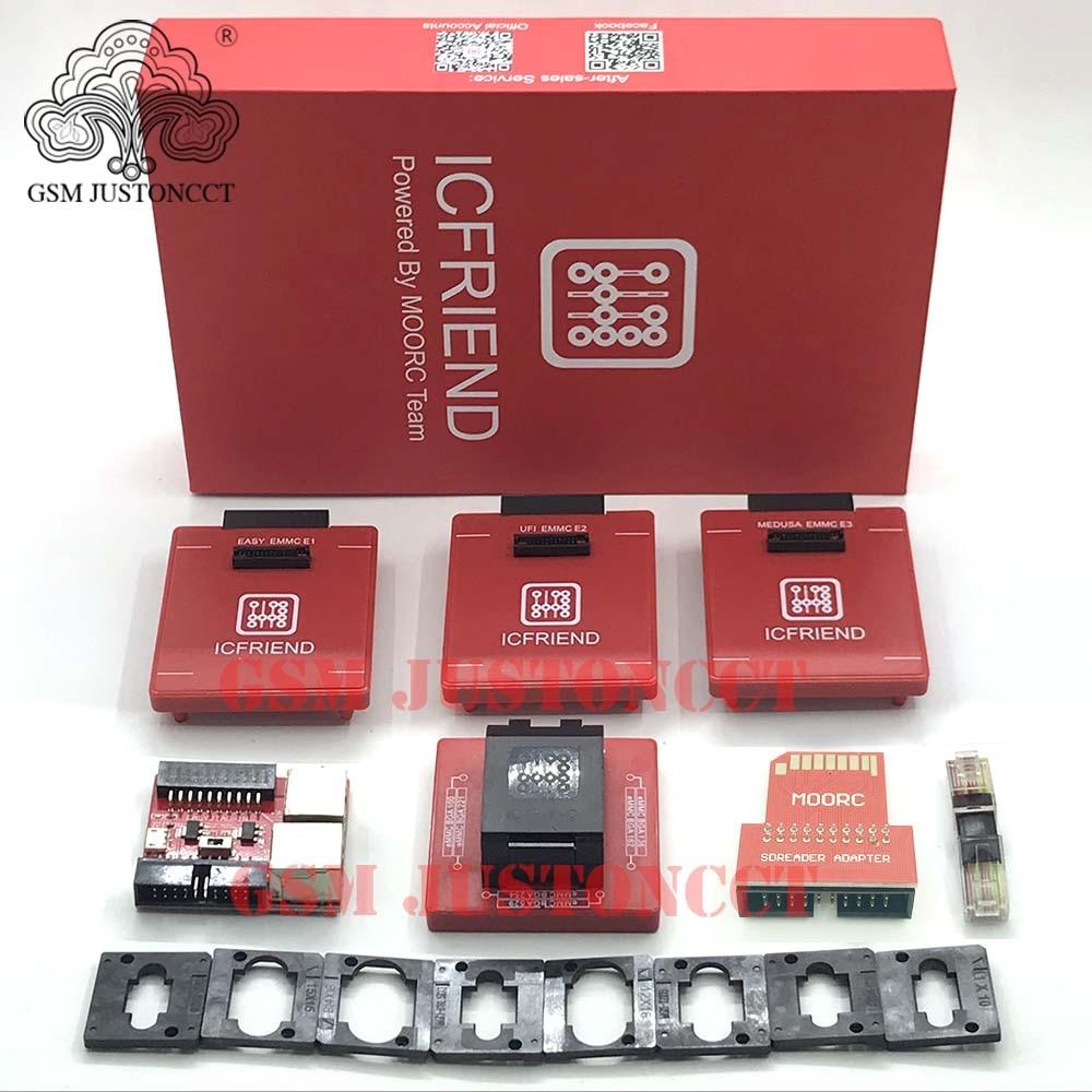 2020 New MOORC E-MATE X E MATE PRO BOX EMMC BGA 13 IN 1 SUPPORT 100 136 168 153 169 162 186 221 529 254