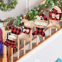 Christmas Home Decor Stockings Pet Socks Christmas Socks Gift Bags Holiday Supplies For Decorations