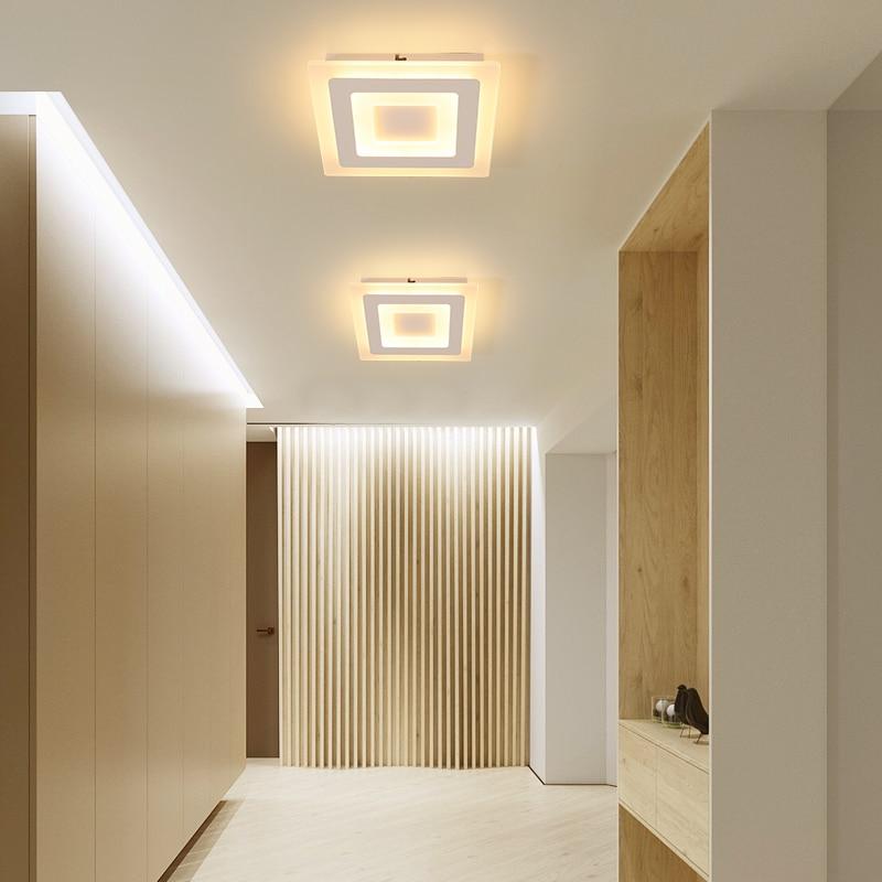 moderno led lustre de teto para corredor minimalista varanda hall entrada led casa