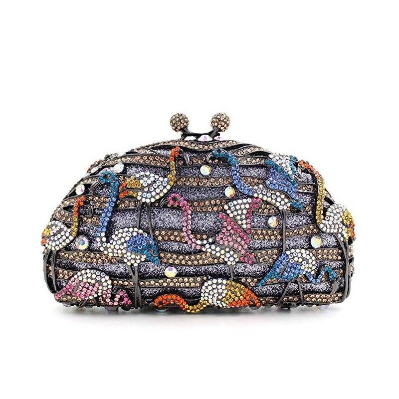 XIYUAN-صندوق هدايا حفل الزفاف ، حقيبة يد نسائية ، حقيبة سهرة ، حقيبة يد من حجر الراين الماسي ، محفظة من الكريستال ، حقيبة يد للزفاف