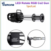 1pclot unique hand hold electric rgb led co2 jet gun cryo shooter 6 heads with colorful led light co2 pistol special effect