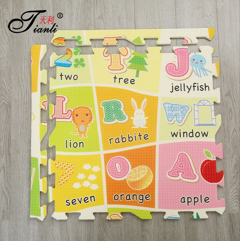 Foldable Baby Play Mat EVA Puzzle Mat Educational Children's Carpet in the Nursery Climbing Pad Kids Rug Activitys Games Toys