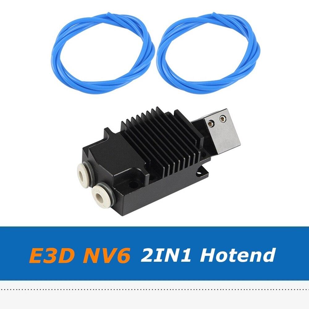 Accessoires dimprimante 3D 2 en 1 tête dimpression dextrusion bicolore E3D NV6 Hotend 2IN1 avec Tube Telfon 2 pièces 1m