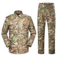 army tactical bdu uniform camouflage military combat shirt pants suit multicam working training clothes set men hunting clothing