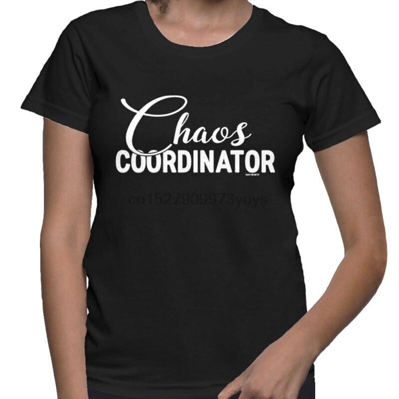 Camiseta para mujer de líder organizador loco y coordinador del caos