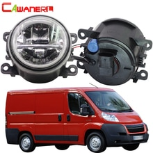 Cawanerl-ampoule de voiture à 2010   Phare antibrouillard + ange Eye DRL, feu jour 12V pour Citroen Jumpy Box 2011 2012 2013 2014 2015