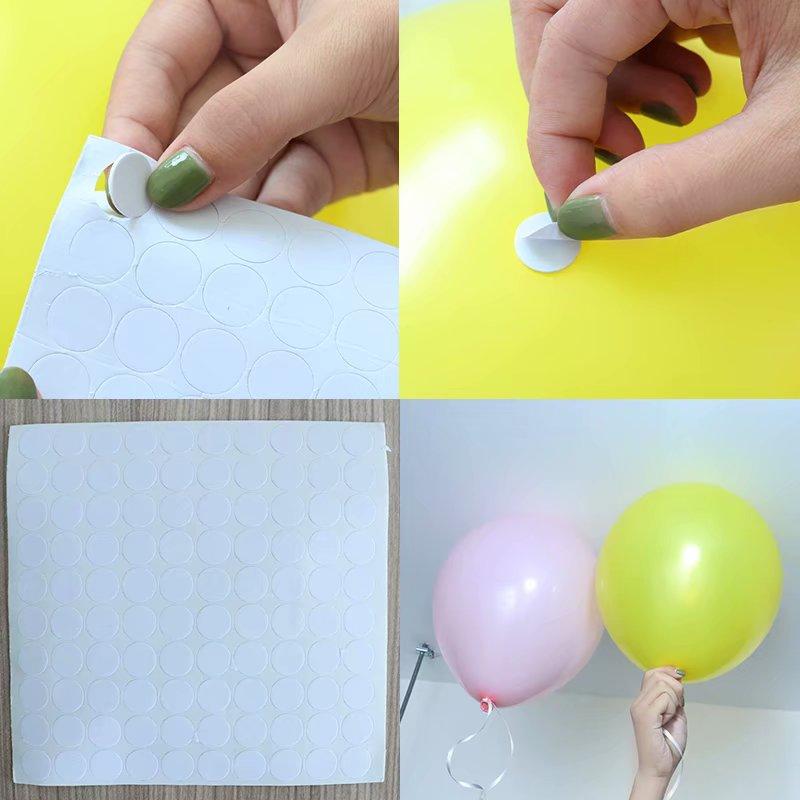 100 Uds. Puntos accesorio globo pegamento punto pegar globos al techo o pegatinas de pared suministros de decoración de la boda de la fiesta de cumpleaños
