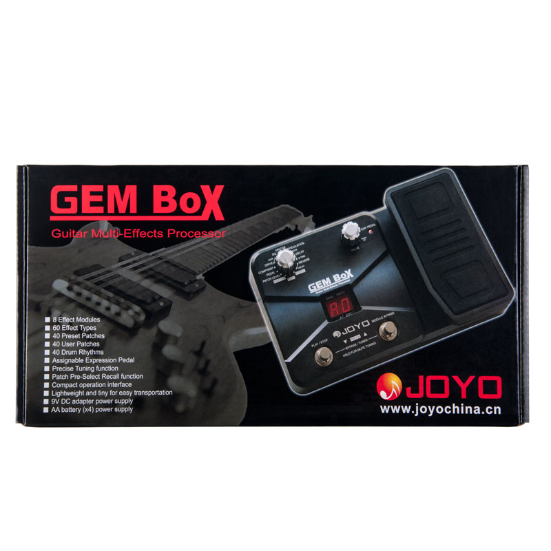 JOYO GEM BOX Multi Effects Processor Floor Multi-effects Pedal 60 Effects and Footswitch For Guitar Accessories Music enlarge