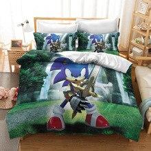 Cartoon Hedgehog Sonic Character 3d Bedding Set Adult Kids Duvet Cover Set Twin Full Queen King Bed Linen Bedclothes 03
