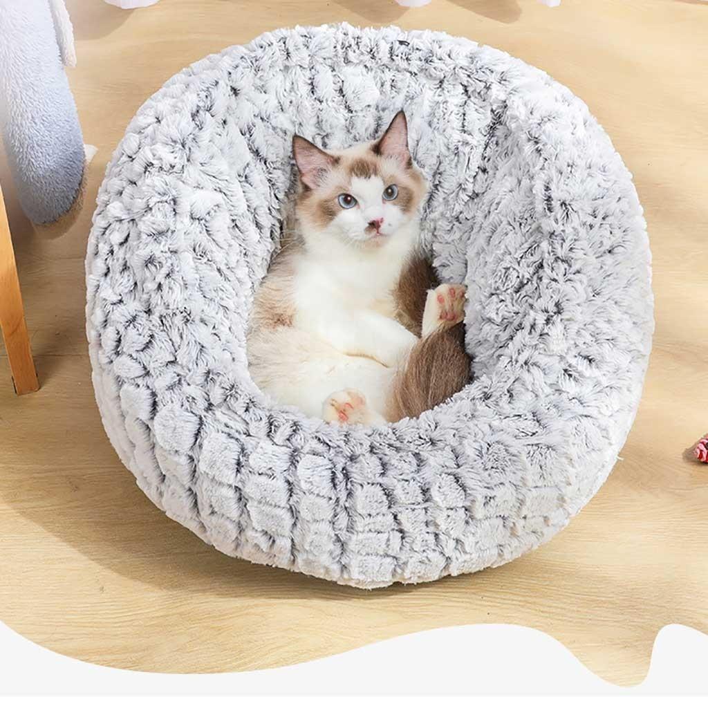 Saco de dormir cálido para perros y gatos, cama suave de felpa...