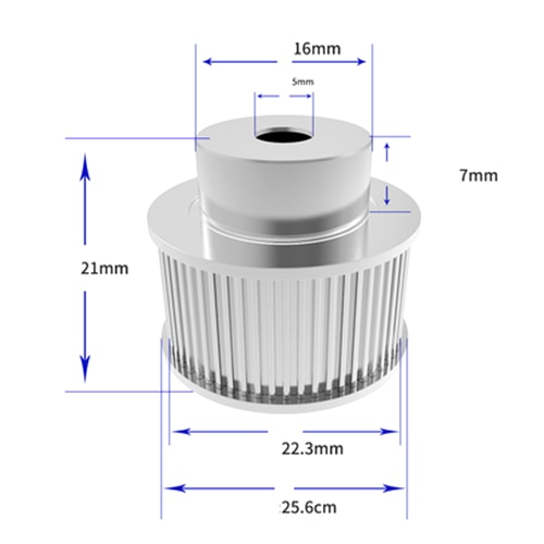 1Pcs Aluminum GT2 10mm Width 36 Tooth Teeth 2GT Timing Drive Pulley Pully Wheels Gear For 3D Printer Bore=5mmm