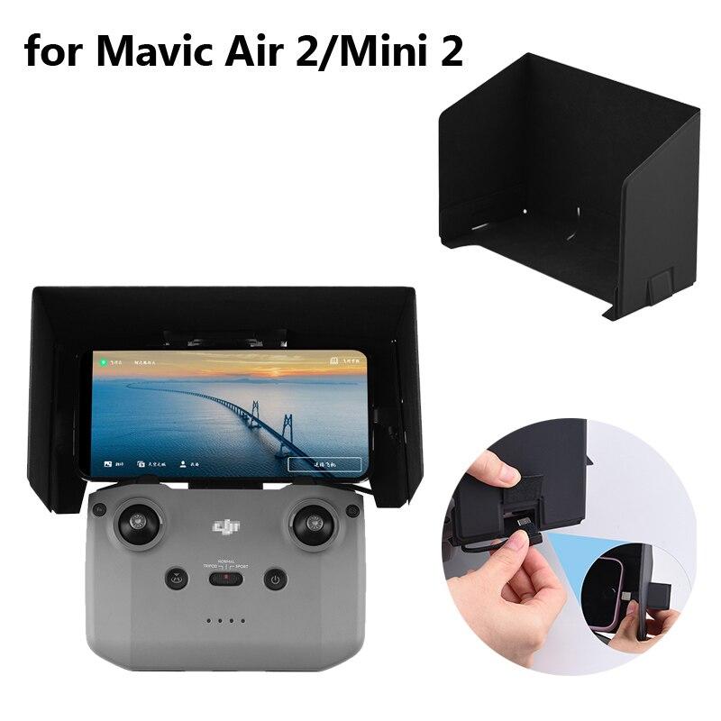 para Dji Mini Capa para Mavic Drone Controle Remoto Sunhood Dobrável Smartphone Sun Sombra Monitor ar Quadcopter rc Accessries 2