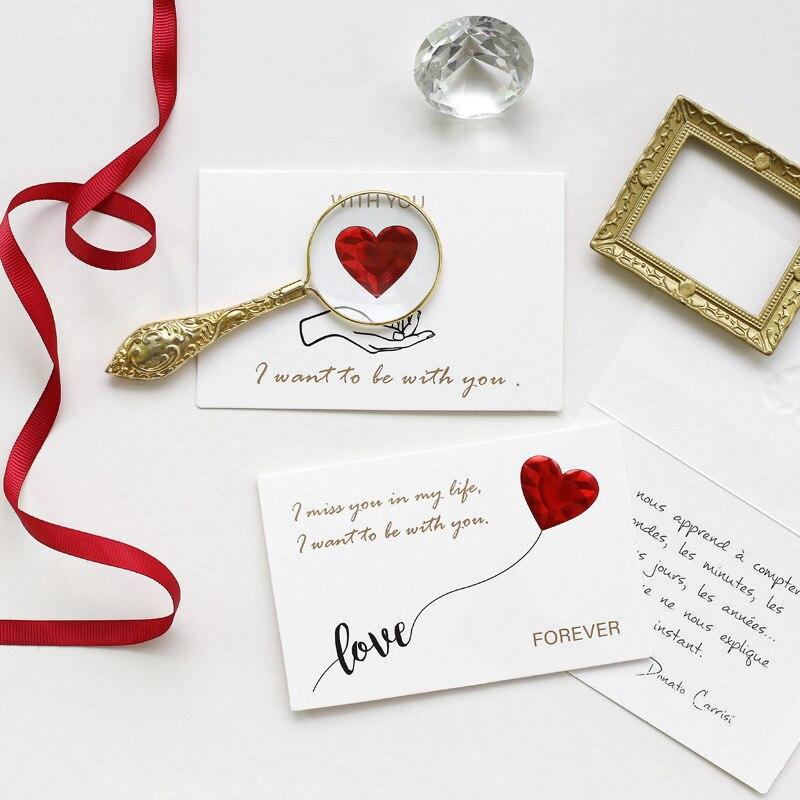 Presente do dia dos namorados, cartão de presente do amor com envelope presente de aniversário do ano novo para a namorada presente