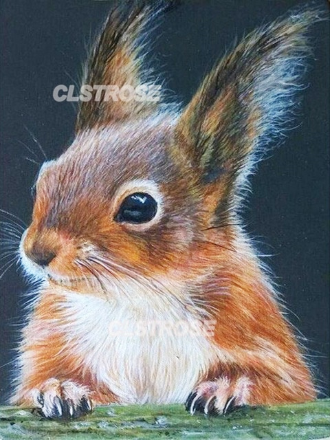 Diy Diamond Painting Home Decoration Squirrel Climbing On Branches Wall Art Handmade Gift Stickers Diamond Embroidery  - buy with discount