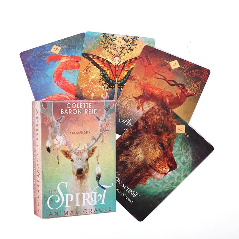 Tarot Karten Deck Spiele Englisch Version Tarot Karte Die Geist Tier Oracle Bord Spiel Für Familie Party Spaß Spielen Spiele