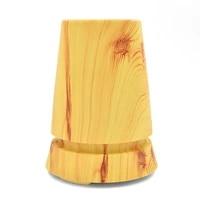 Diffuseur dhuile essentielle et darome ultrasonique pour maison  lampe de table en bois  humidificateur dair electrique