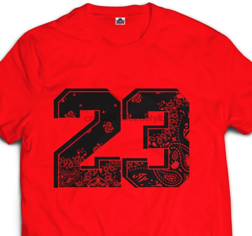 Black Varsity Red 23 Red Rag Bandana Retro XI IV V Kicks Sneaker Head T Shirt