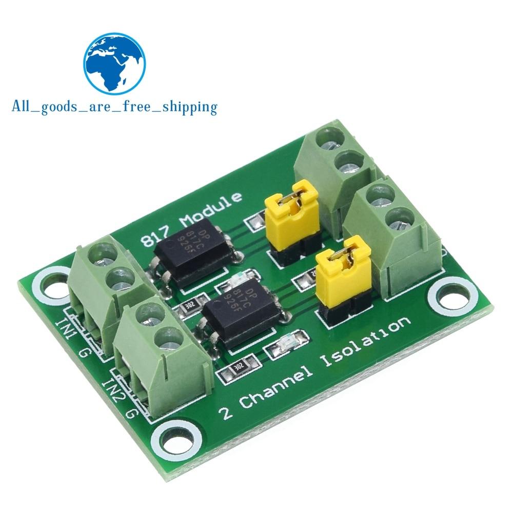 PC817 2 канальная оптопара изоляционная плата преобразователь напряжения модуль адаптера 3,6-30 в драйвер фотоэлектрический изолированный модуль