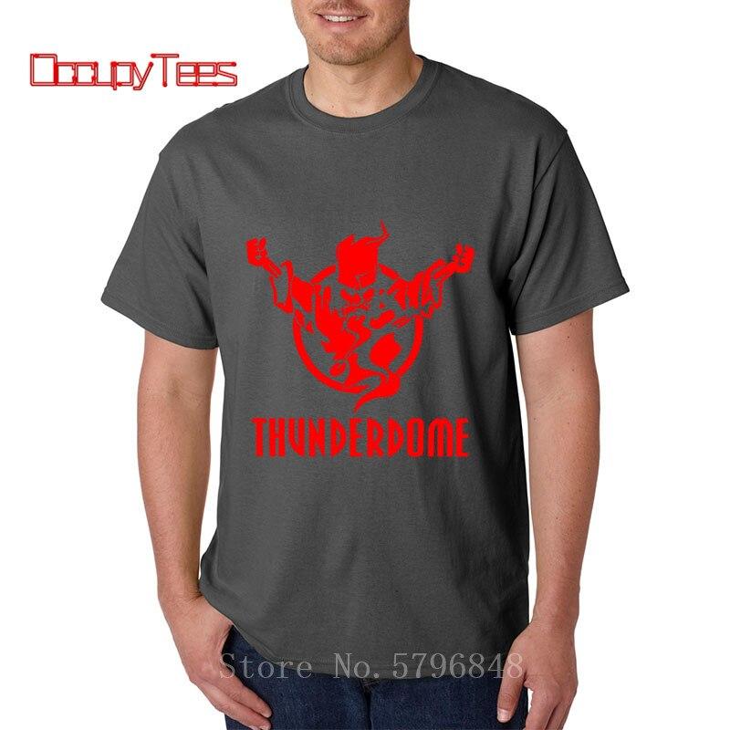 Designer T Shirt Thunderdome Rock Adult Short Sleeve O-Neck Cotton T-Shirt Men Matching Clothing Simply Fashion Hardcore TShirt