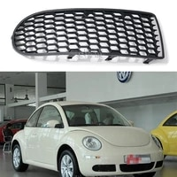 for vw 2006 2011 beetle non hole fog lamp frame fog lamp shade front bumper lower grille fog lamp grille cover 1c0 807 683 h 1