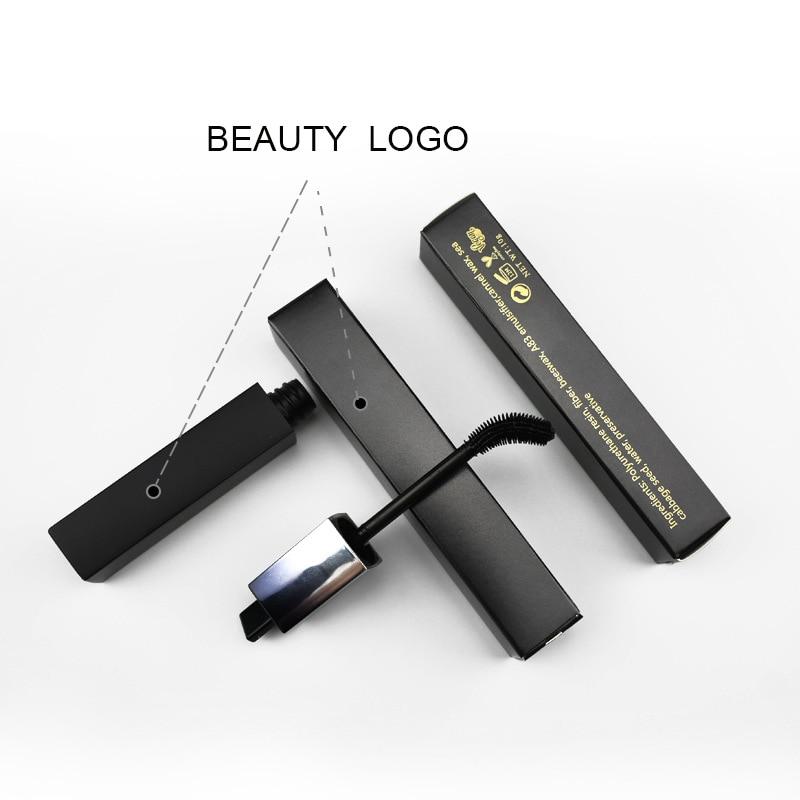 30pcs Printing LOGO 3D Fiber Mascara Cream Waterproof Lengthening Curl Black Eyebrow Mascara Custom Logo Cosmetics Maquiagem