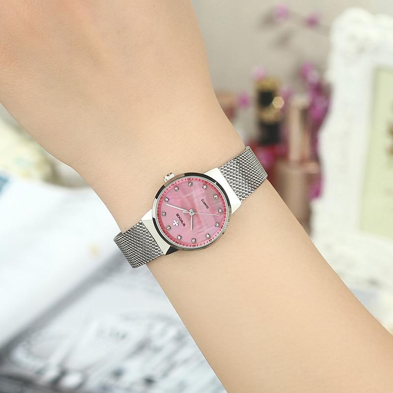 relogio feminino Luxury Diamond Pink Ladies Watch Women Quartz Wrist Watch WWOOR Top Brand Fashion Bracelet Watch For Women 2020 enlarge