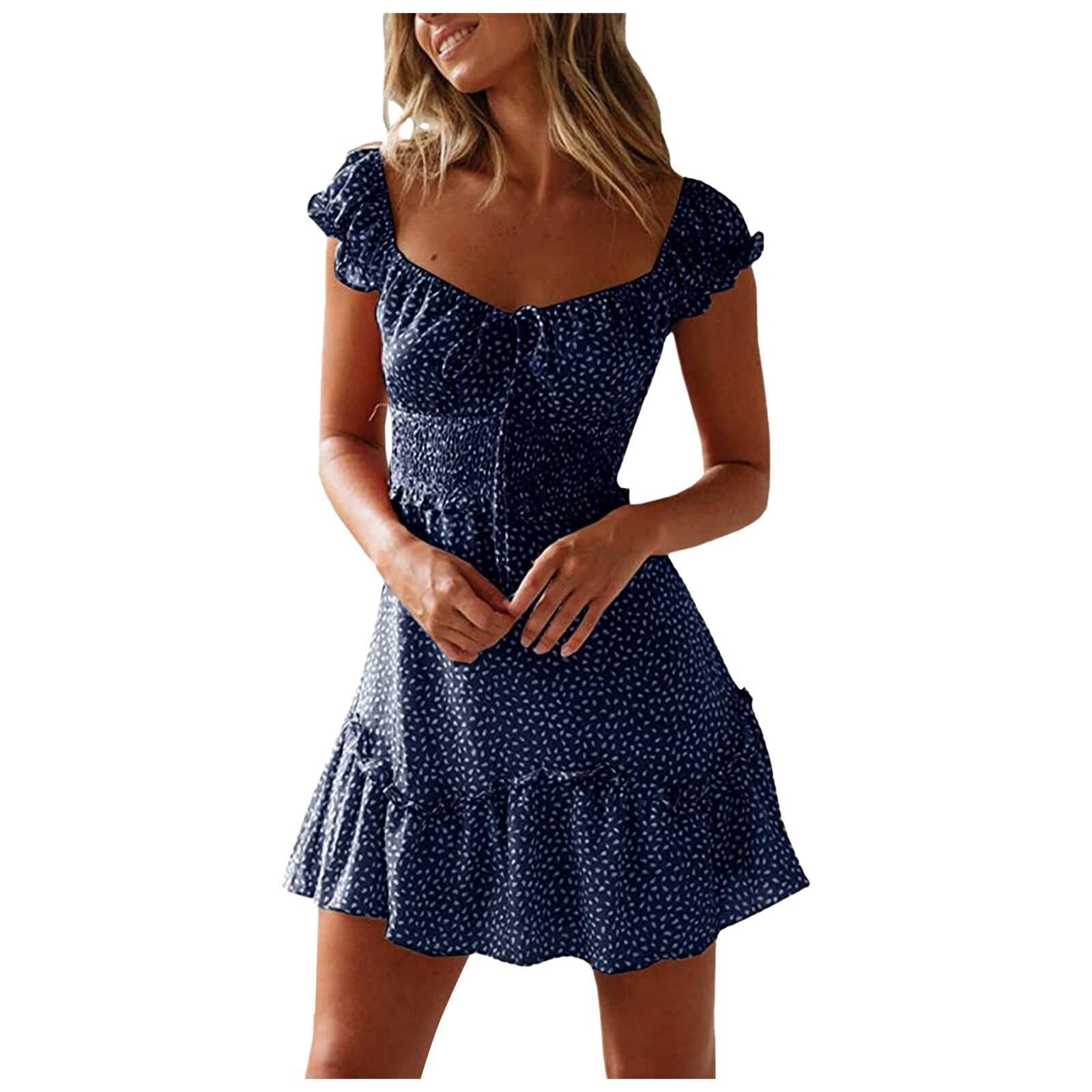 2021 Summer Women Pencil Dress Pleated Dots Elegant Dresses Sexy Skinny Evening...