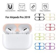 Ultra cienki metal odporny na kurz straż dla apple airpods Pro słuchawki skóry naklejka ochronna dla Airpodspro air pods 3 pokrywy skrzynka