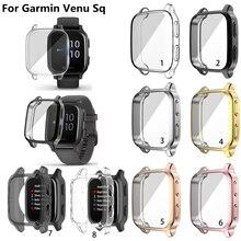 TPU Electroplated Case Cover Protective For Garmin Venu Sq Protective Cover Shell
