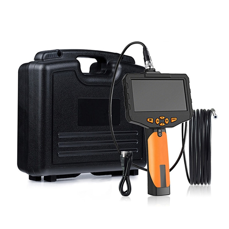 Promo Single & Dual Lens Inspection Camera with 4.5 inch Screen Endoscope Camera  6 LED IP67 Waterproof Snake Camera Carrying Case