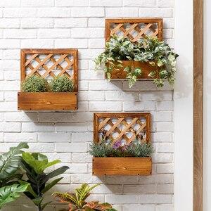 Настенная полка для цветов, многоярусная полка из массива дерева для растений, для балкона, мясистый цветочный горшок, украшение для сада, у...