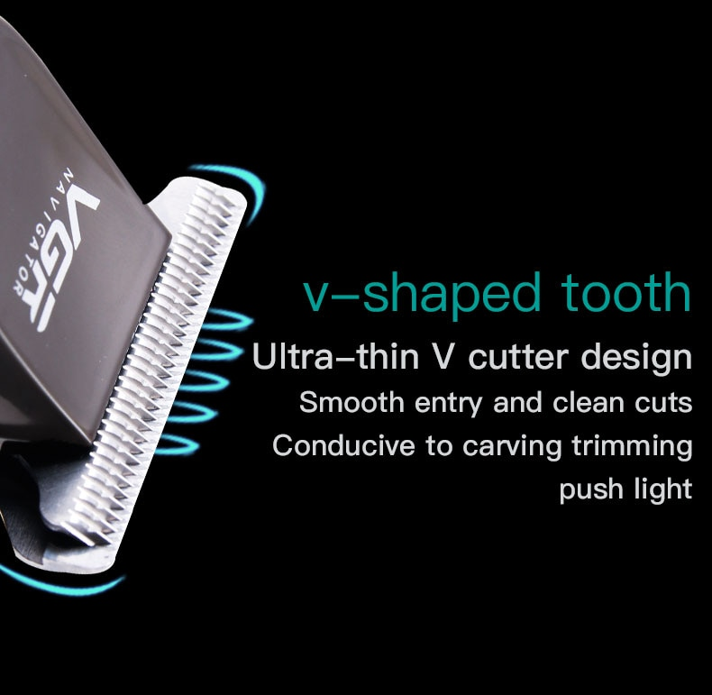 VGR V-030 Hair Clipper USB Rechargeable Cutting Machine Adjustable Steel Blade Professional  Clipper Trimmer Tool enlarge